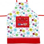 Cow Flower Power Adult Apron