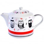 Owls Teapot - with metal infuser