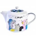 Hedgehogs Teapot - with metal infuser