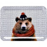 Brown Bear Small melamine tray