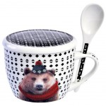 Bear Laissez Lucie Faire Soup Bowl with spoon