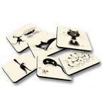 Cats by Dubout Set of 6 coasters