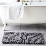 Cotton Bath Mat 50 x 80 cm - Grey