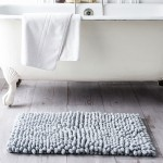 Cotton Bath Mat 50 x 80 cm - Zinc