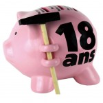 Piggy bank with a small hammer - 18 Ans