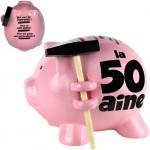 Piggy bank with a small hammer - 50 years