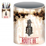 US Route 66 pencil pot