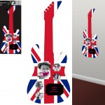 UK Sticker guitar Photo frame