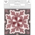 6 Cement tile stickers 15 x 15 cm - Brown