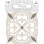 6 Cement tile stickers 15 x 15 cm