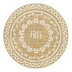 Burlap round table set - FREE