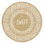 Burlap round table set - SWEET