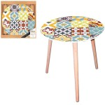 Cement Tiles round side table