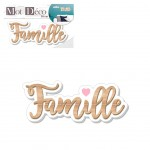 Decorative wooden plate - FAMILLE