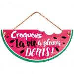 Wooden wall decoration to hang - Croquons la vie