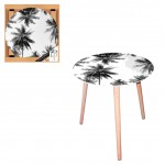 Palm trees round side table