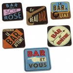 Bar Set of 6 coasters
