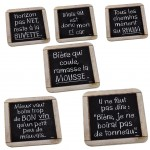 L&#39Apéro Set of 6 coasters