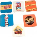 Pastis Set of 6 coasters
