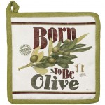 Born to Be Olive cotton Potholder 21 cm
