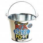 Metal Beer Bucket - Pizza Bière Foot