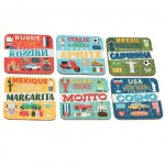 cocktails du monde Set of 6 coasters