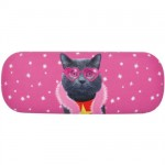 Disco Cat Eyeglass Case