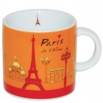 Paris Je t&#39Aime Orange Small mug