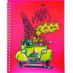 Vive Paris spiral notebook