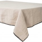 Washed linen table towel - 41 x 41 cm - Natural