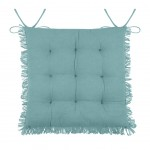 Chair cushion with fringes - Blue