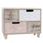 Box with wooden drawers - BLUSH