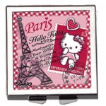 Hello Kitty hinged pocket mirror - 6 cm