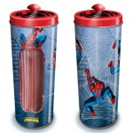Spiderman straws Box