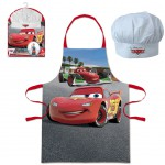 Cars apron and chef hat