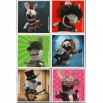 Raving Rabbids set of 6 magnets
