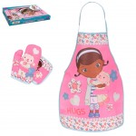 Doc Mc Stuffins Apron, Pot holder and glove set