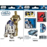Star Wars R2D2 and 6PO stickers