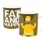 "Homer Simpsons "" fat and happy"" mug"