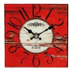 Paris glass clock
