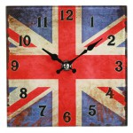 London Union Jack glass clock