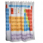 Periodic System shower curtain 180 x 180 cm