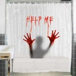 Help Me shower curtain 180 x 180 cm