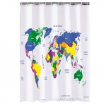 World Map shower curtain 180 x 180 cm