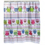 Owl shower curtain 180 x 180 cm