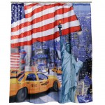 USA blue shower curtain 180 x 180 cm