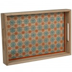 Wooden tray 35 cm - Red