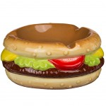 Burger ceramic ashtray