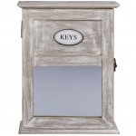 Wooden Keyrings Box with mirror