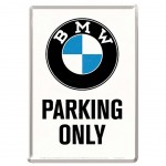 BMW Parking Only small metal plate